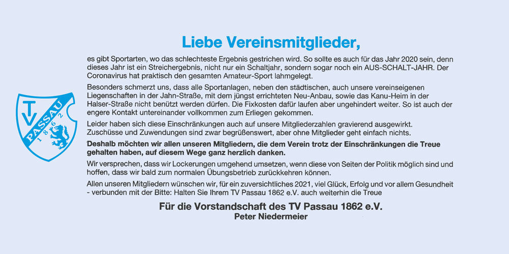 TV Passau 1862 e.V. Abteilung Taekwondo Passau